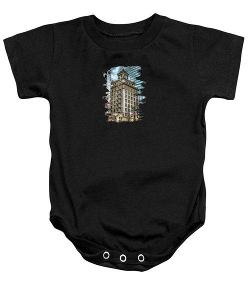 Jackson Tower Portland Oregon Baby Onesie