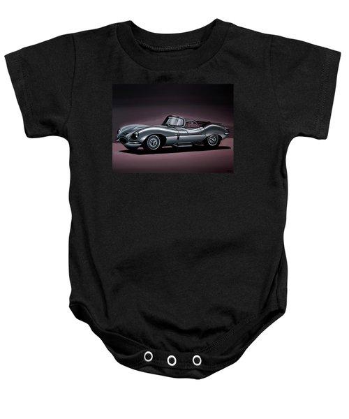 Jaguar Xkss 1957 Painting Baby Onesie