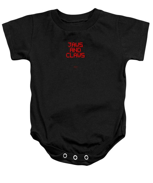 Jaws And Claws Baby Onesie by Gareth Lewis