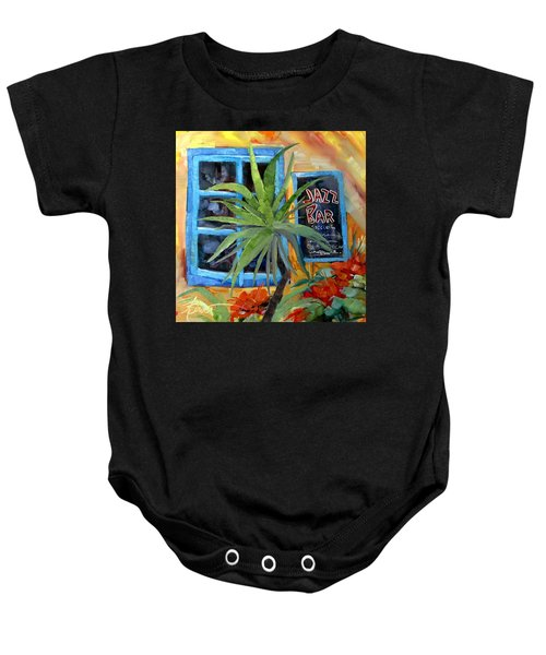 Jazz Bar In Santorini Baby Onesie