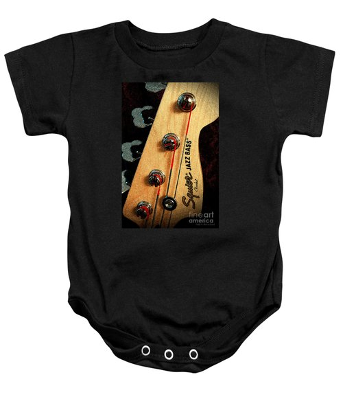 Jazz Bass Headstock Baby Onesie
