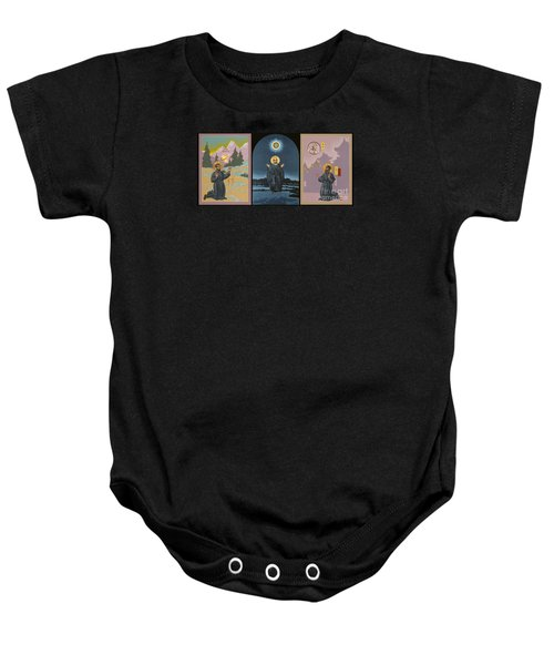 Jesuit Triptych-st Peter Faber-st Ignatius-st Francis Xavier Baby Onesie