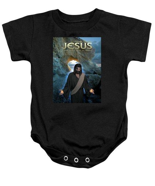Jesus- I Am With You Always Baby Onesie
