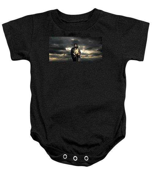 Jesus In The Clouds Baby Onesie