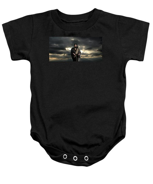 Jesus In The Clouds With Glory Baby Onesie