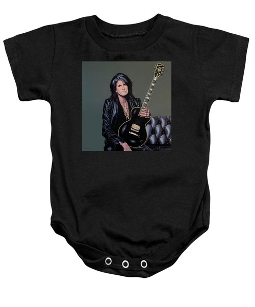Joe Perry Of Aerosmith Painting Baby Onesie
