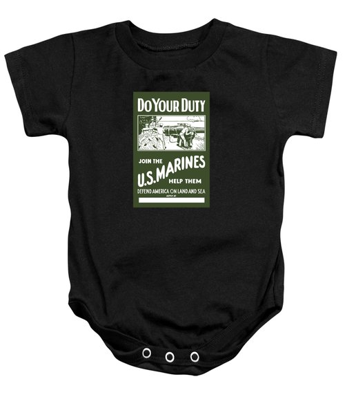 Join The Us Marines Baby Onesie