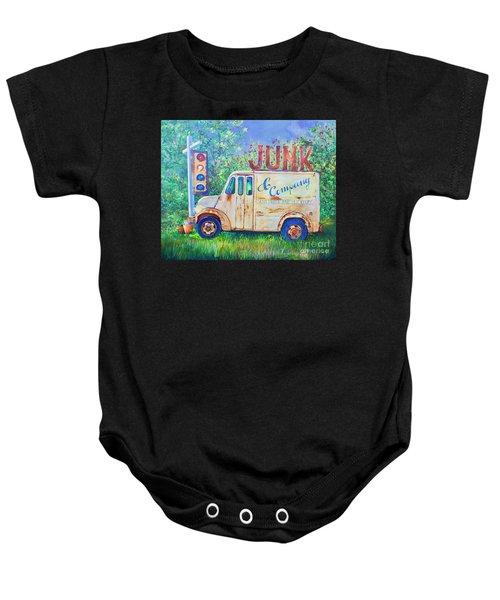 Junk Truck Baby Onesie