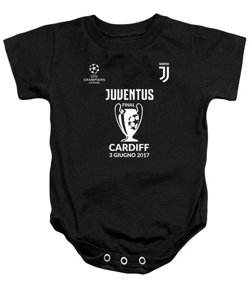 Juventus Final Champions League Cardiff 2017 Baby Onesie by Ipoy Juki