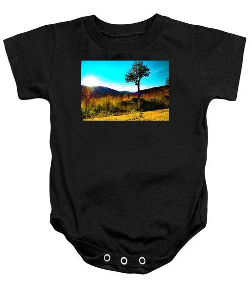 Kancamagus Sunset Baby Onesie