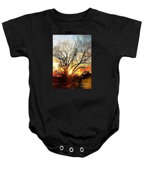 Kansas Sunset Baby Onesie