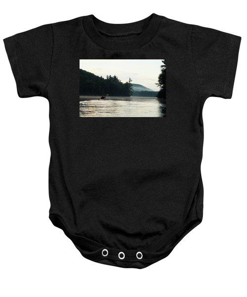 Kayak In The Fog Baby Onesie
