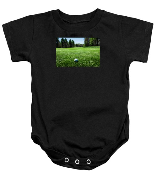 Keep Your Eye On The Ball Baby Onesie