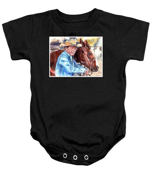 Kevin Costner Portrait Baby Onesie
