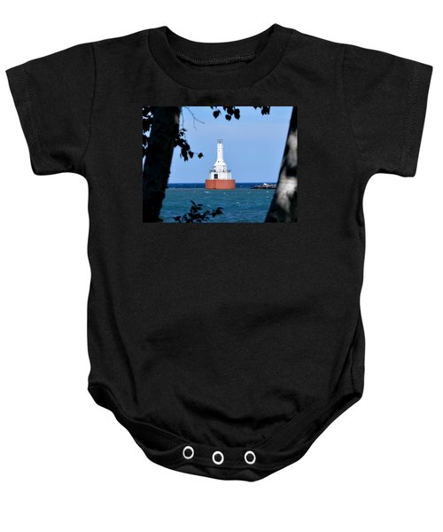 Keweenaw Waterway Lighthouse. Baby Onesie