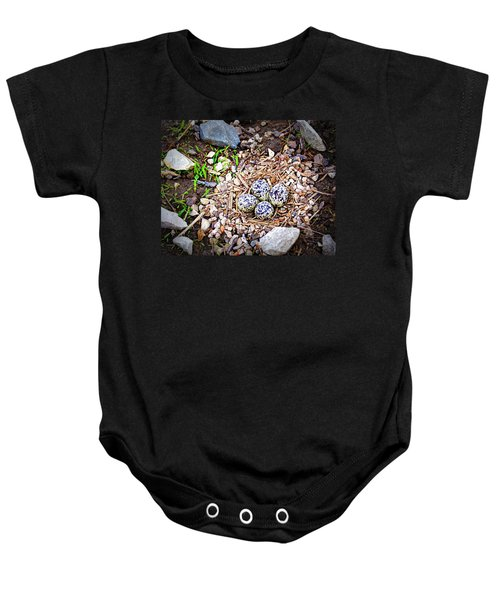 Killdeer Nest Baby Onesie by Cricket Hackmann