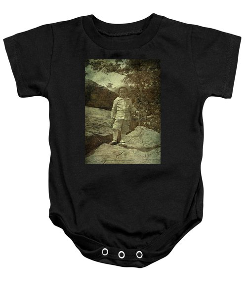 King Of The Mountaintop Baby Onesie