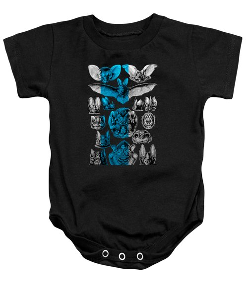 Kingdom Of The Silver Bats Baby Onesie by Serge Averbukh