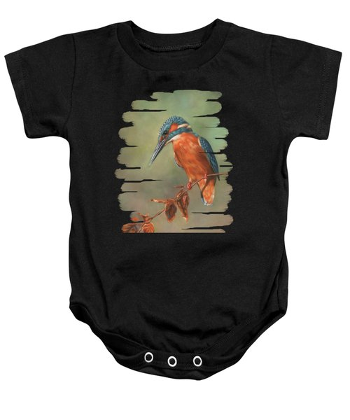 Kingfisher Perched Baby Onesie