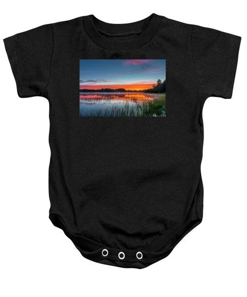 Kingston Lake Sunset Baby Onesie