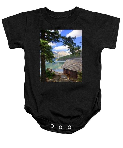 Kintla Lake Ranger Station Glacier National Park Baby Onesie
