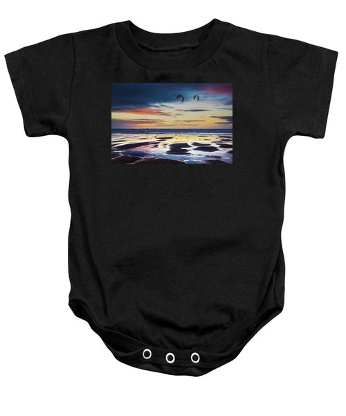 Kite Surfing, Widemouth Bay, Cornwall Baby Onesie