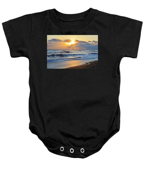 Kitty Hawk Sunrise Baby Onesie
