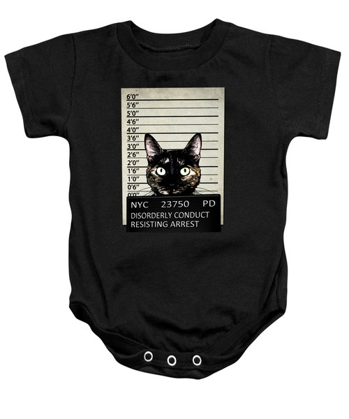 Kitty Mugshot Baby Onesie