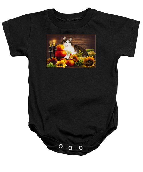 Kitty's Harvest Baby Onesie