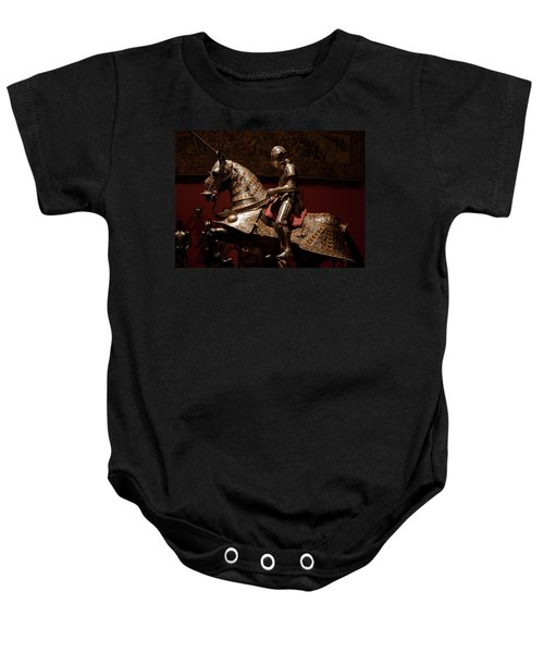 Knight And Horse In Armor Baby Onesie