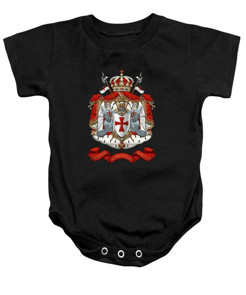 Knights Templar - Coat Of Arms Over Black Velvet Baby Onesie