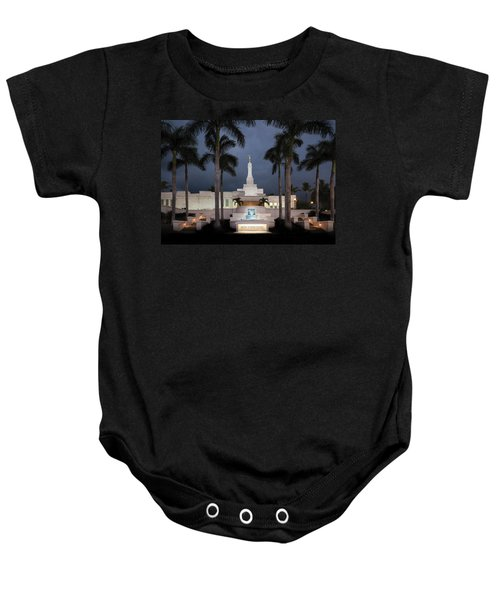 Kona Hawaii Temple-night Baby Onesie