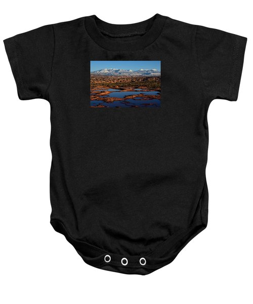 La Sal Mountains And Ephemeral Pools Baby Onesie