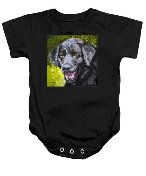 Lab Out Of The Pond Baby Onesie