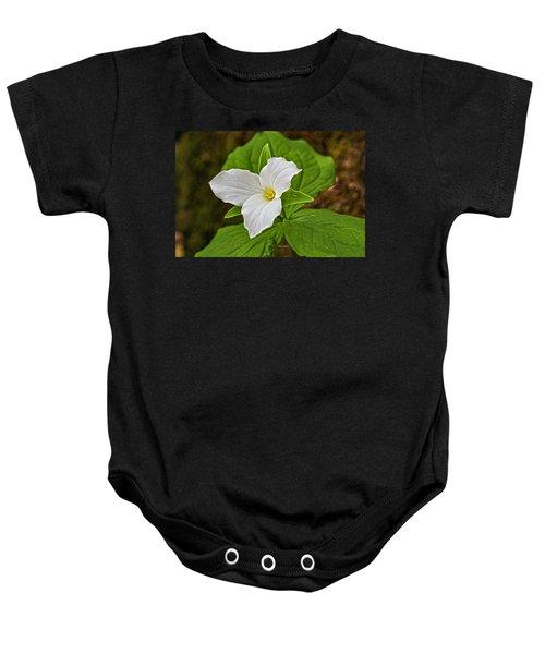 Lady In White Baby Onesie