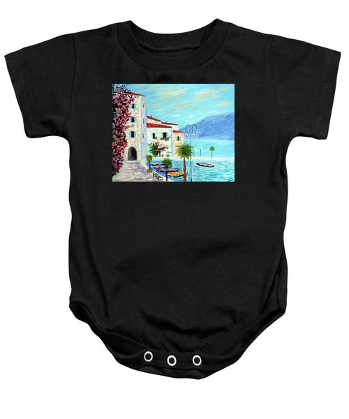 Lake Garda Bliss Baby Onesie