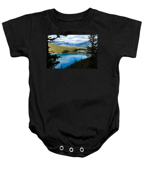 Lake Louise Chalet Baby Onesie