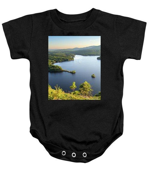 Lake Megunticook, Camden, Maine  -43960-43962 Baby Onesie