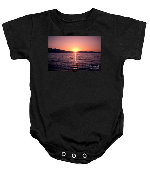 Lake Sunset 8pm Baby Onesie