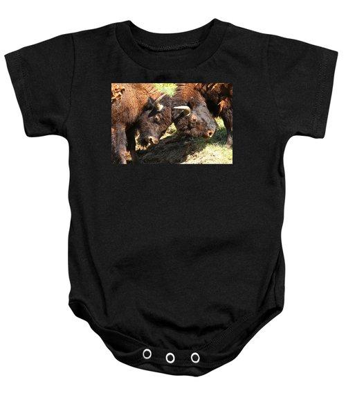 Lamar Valley Bison Fight Baby Onesie