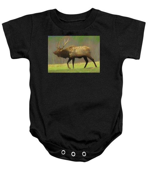 Large Pennsylvania Bull Elk. Baby Onesie