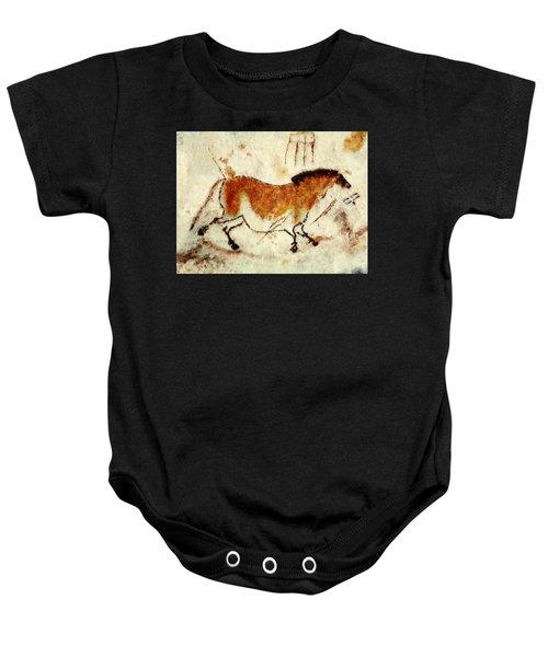 Lascaux Prehistoric Horse Baby Onesie