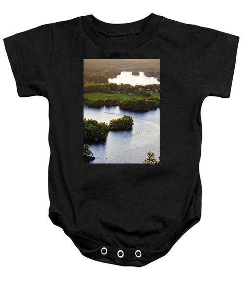 Late Afternoon On Lake Megunticook, Camden, Maine -43988 Baby Onesie