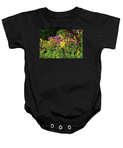 Late July Garden 1 Baby Onesie