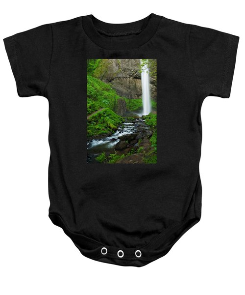 Baby Onesie featuring the photograph Latourell Falls Oregon by Renee Hong