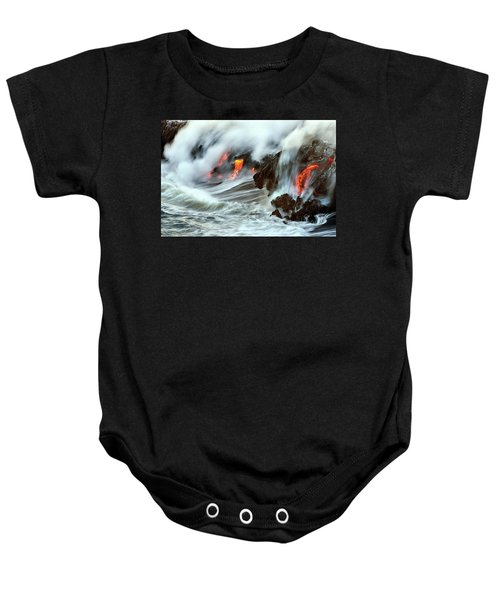 Lava And Ocean Baby Onesie