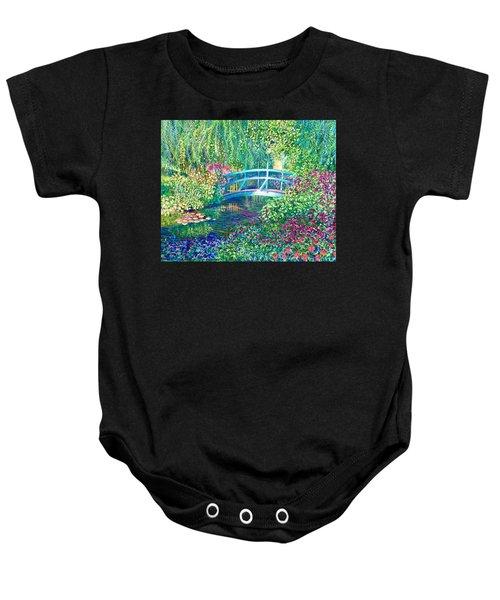 Le Pont Japonaise A Giverny Dans Le Jardin De Claude Monet Baby Onesie