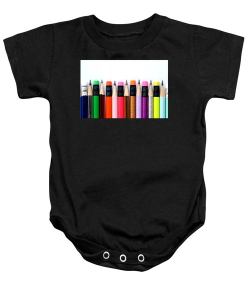 Leads And Erasers Baby Onesie