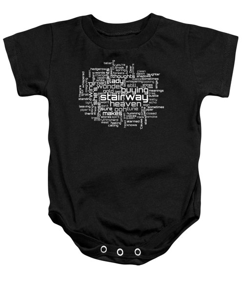 Led Zeppelin - Stairway To Heaven Lyrical Cloud Baby Onesie by Susan Maxwell Schmidt