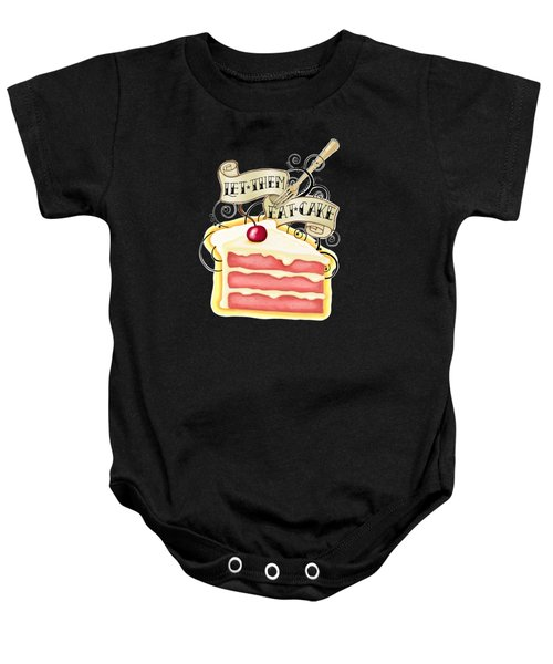 Let Them Eat Cake Traditional Tattoo Style Baby Onesie